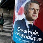 Emmanuel Macron French election poster