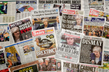 UK Brexit news on newspaper covers