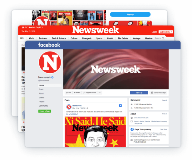 Newsweek counts millions of followers across its social media pages.